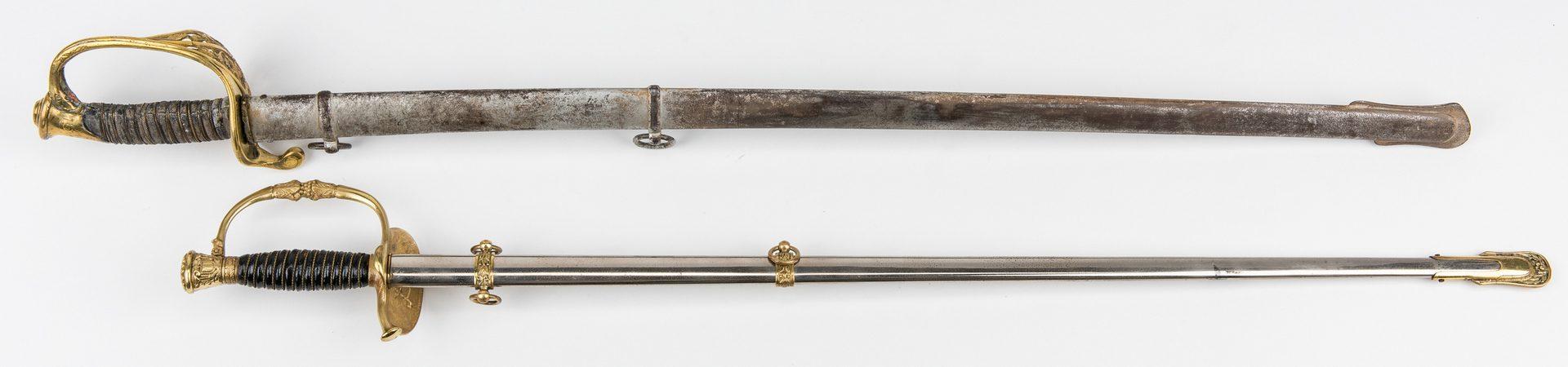Lot 779: 2 Swords, incl. Model 1850 & G.A.R. Sword