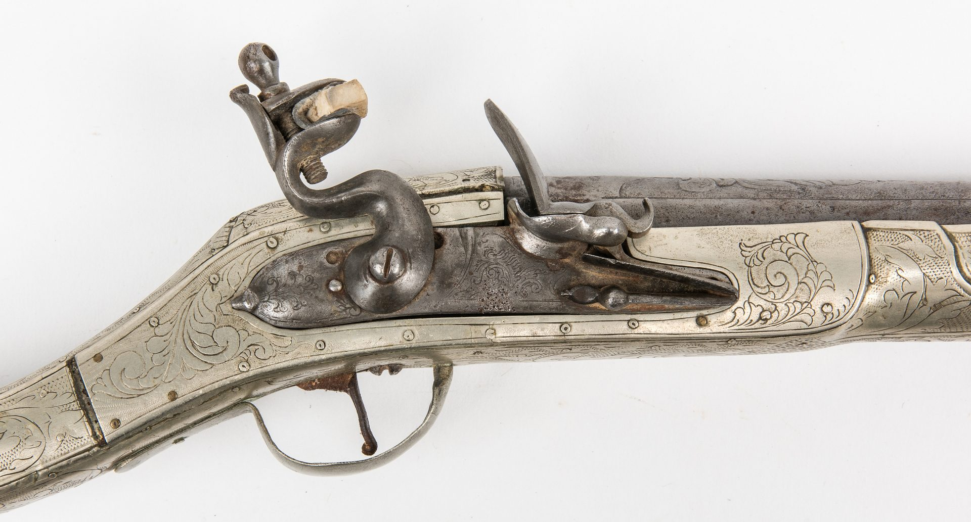 Lot 780: Turkish Flintlock Musketoon, .72 cal, with Dagger