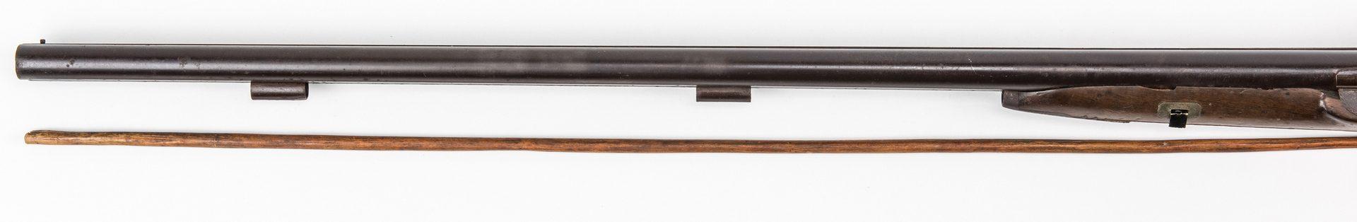 Lot 781: European Percussion Shotgun with Gold Animal Inlay, 12 gauge