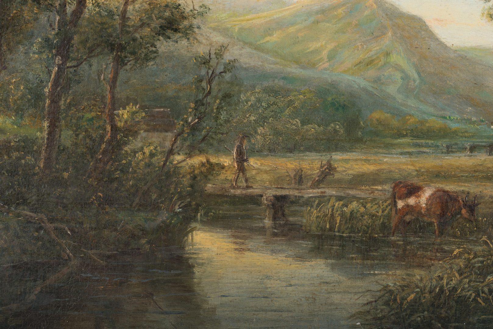 Lot 78: 2 19th C. oil Landscapes incl. Barbizon