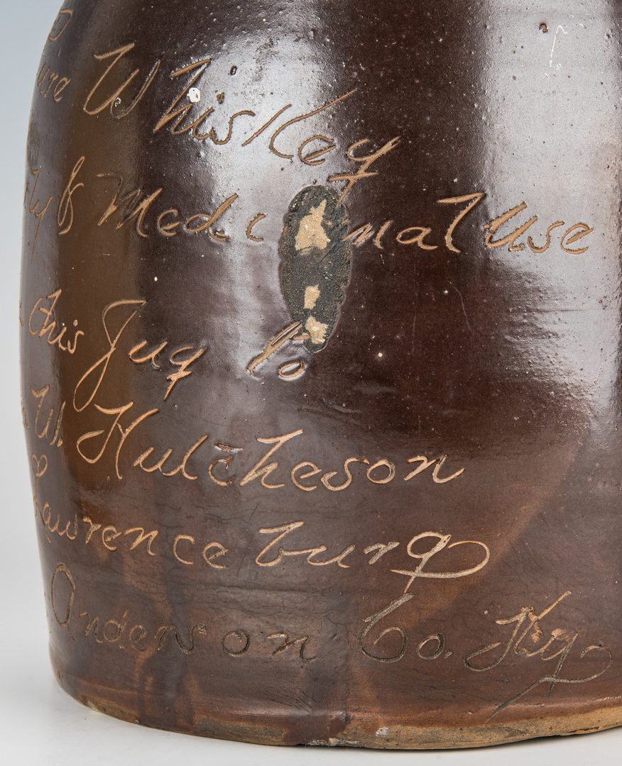 Lot 794: 2 Kentucky Stoneware Whiskey Advertising Jugs