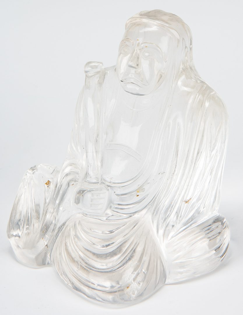 Lot 7: Asian Bronze Bell & Rock Crystal Buddha