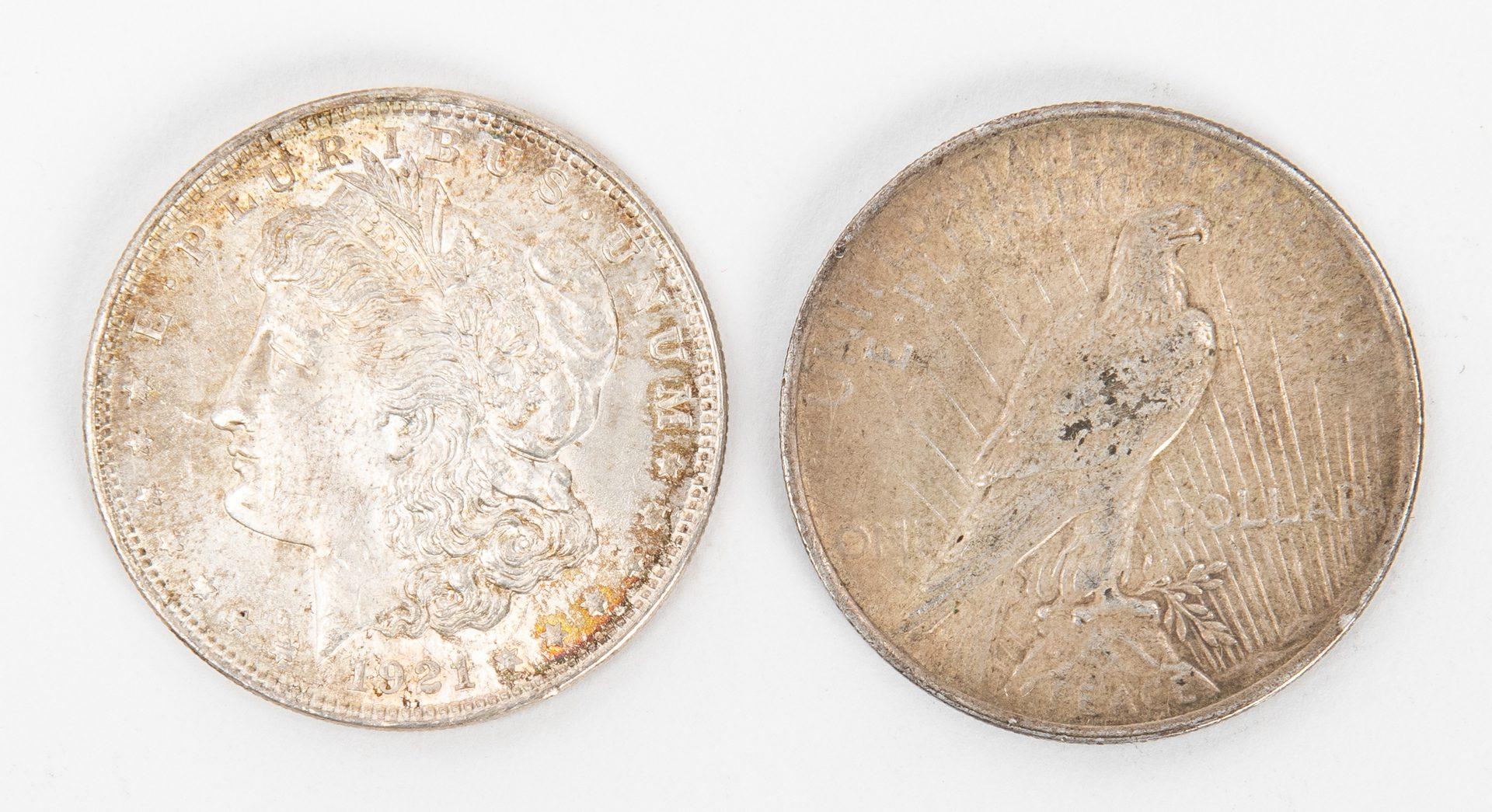 Lot 801: 39 Morgan and 26 Peace Silver Dollars, XF/UC