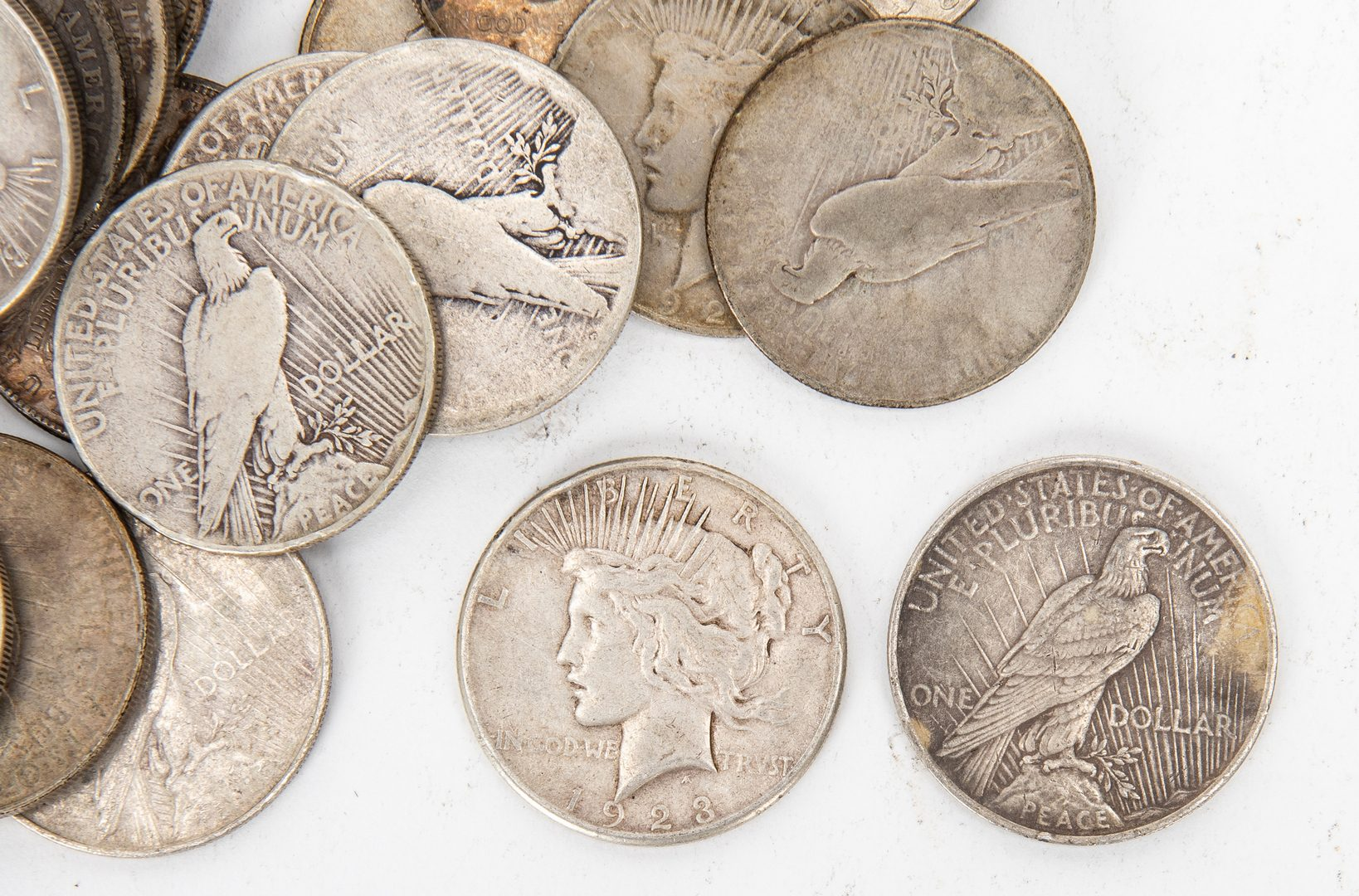 Lot 803: 19 Morgan & 37 Peace Silver Dollars