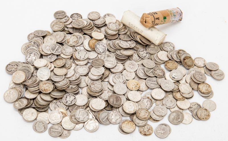 Lot 807: 577 Mercury & Roosevelt Silver Dimes
