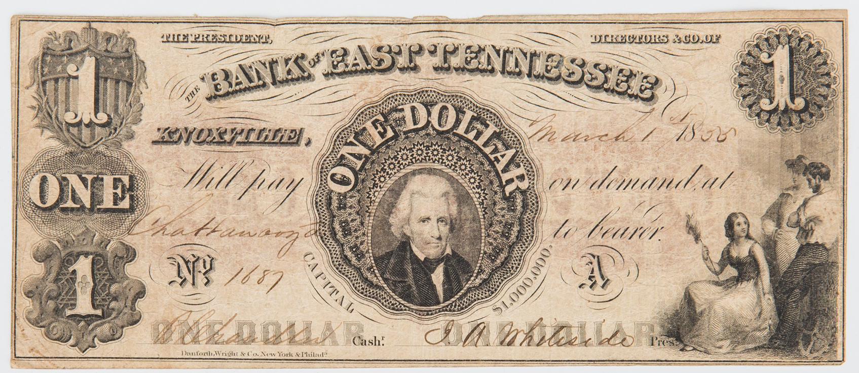 Lot 811: 3 Obsolete TX/TN Bank Notes, incl. Sam Houston Secretarial Signed