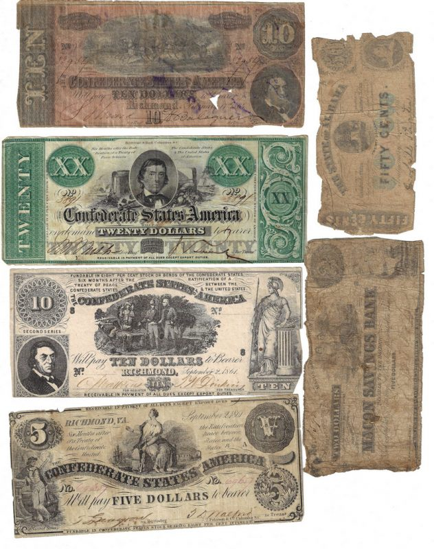 Lot 812: 17 CSA/Obsolete Bills, incl. McDonald BN signed