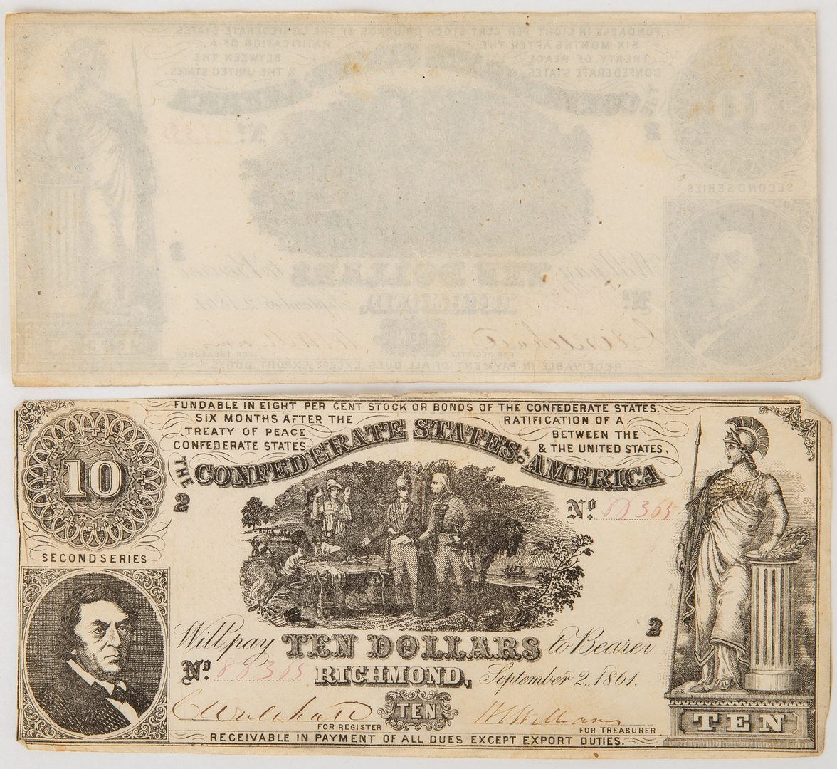 Lot 814: 24 About UNC Confederate 1861 $10 Bills