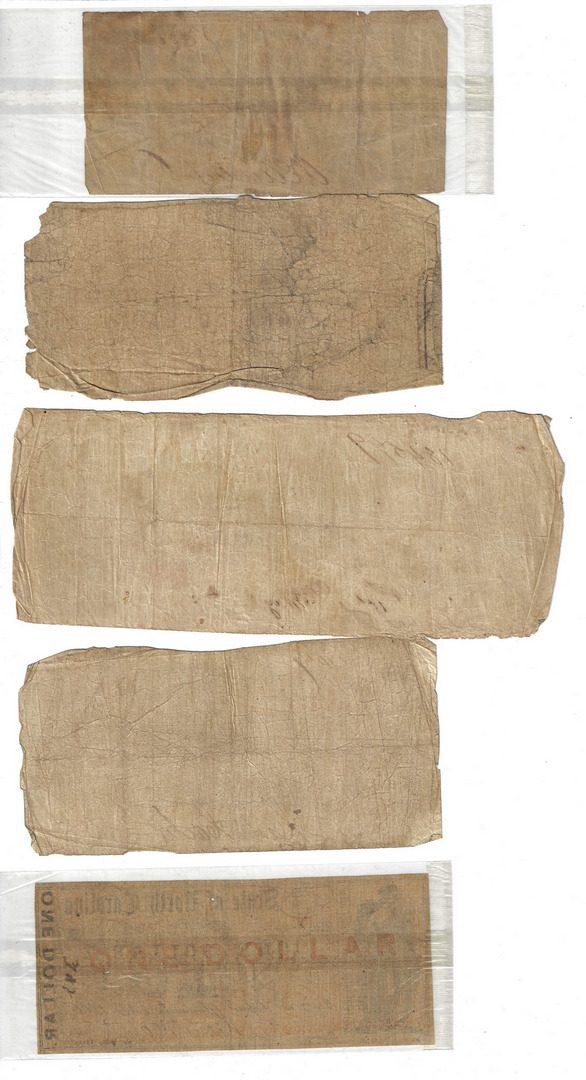 Lot 817: Obsolete & Confederate Bills w/ Fullton Letter