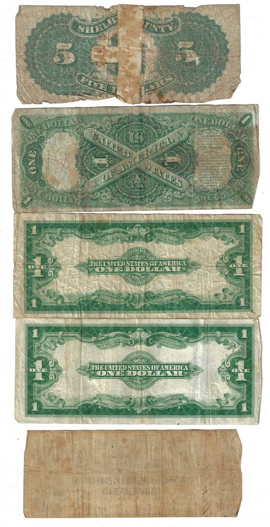 Lot 818: 39 TN Bank Notes & US Bills