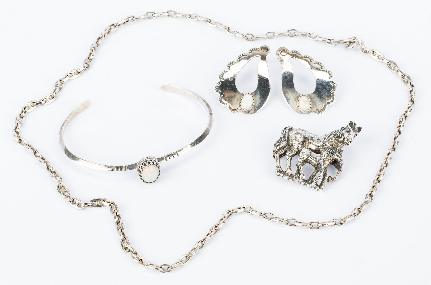 Lot 827: Sterling Horse & Fashion Jewelry
