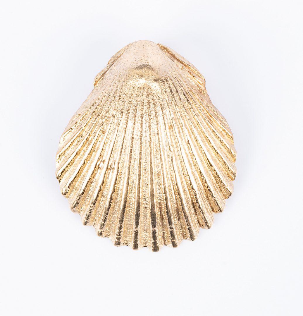 Lot 829: 14K Jewelry incl. Seashells, 6 items