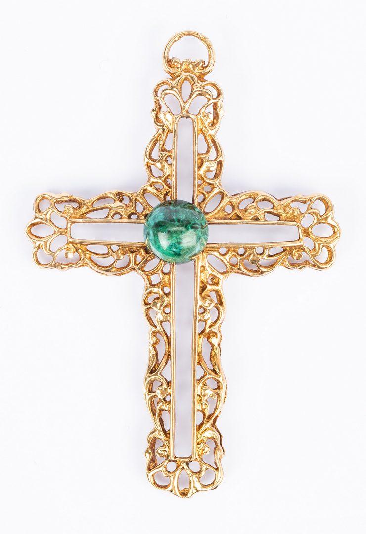 Lot 833: 3 items 10K Jewelry incl. Victorian pin