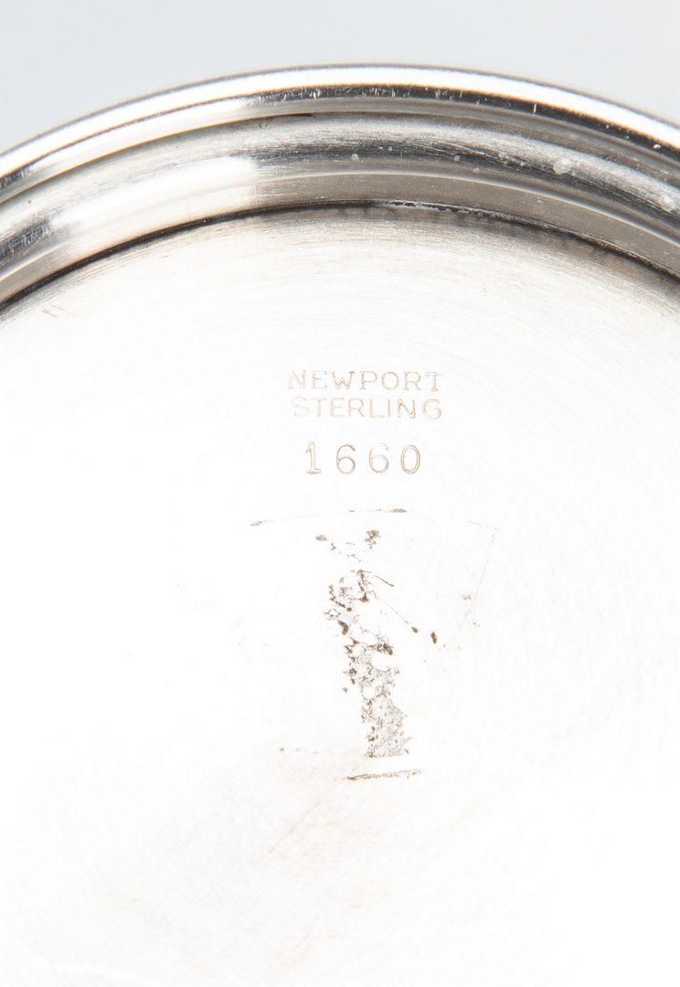 Lot 838: 6 Sterling Goblets & 3 Sterling Juleps