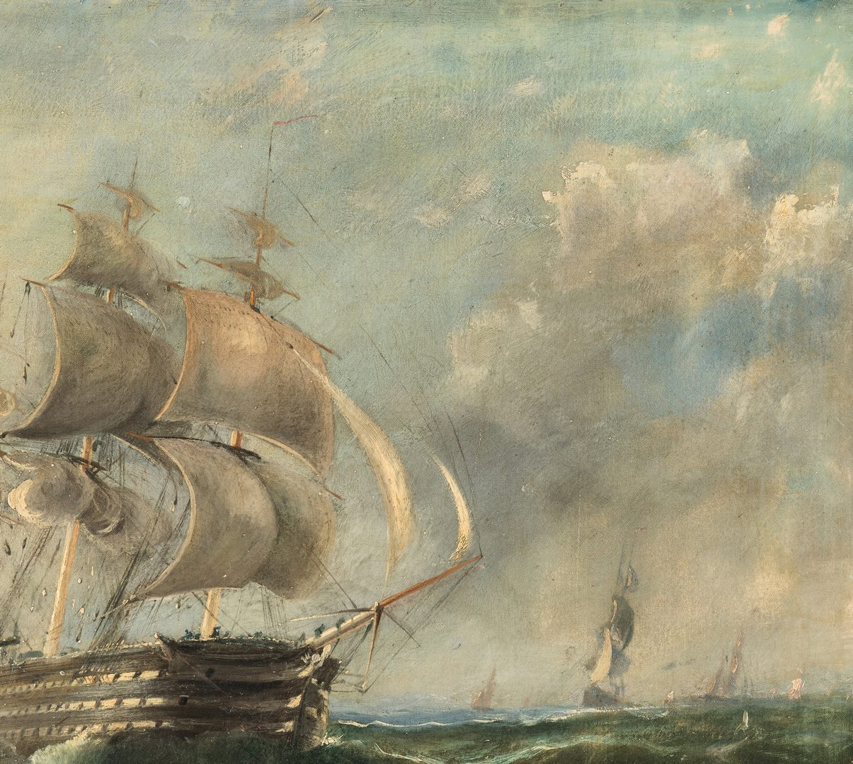 Lot 83: Manner of George Chambers, 19th C Maritime Painting