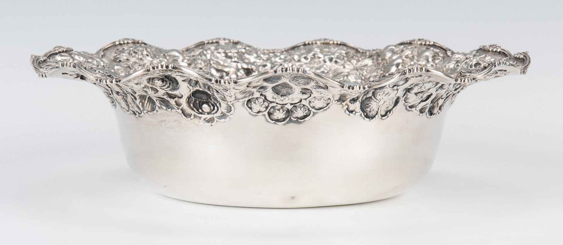 Lot 840: 7 Baltimore Repousse Silver Table Items