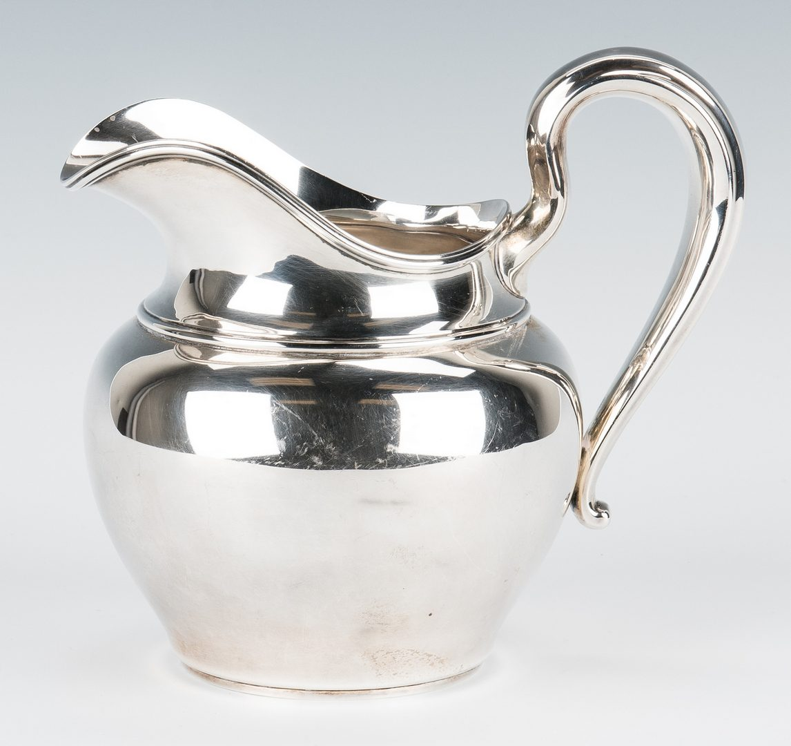 Lot 844: Sterling Water Pitcher, Serving Bowl, 2 items
