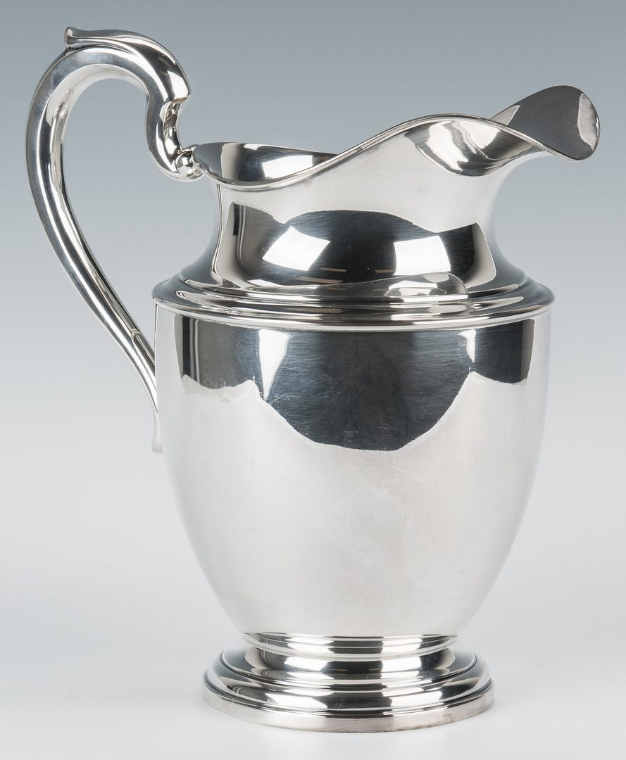 Lot 849: 2 Sterling Silver Serving Pcs., Tray &  Pitcher