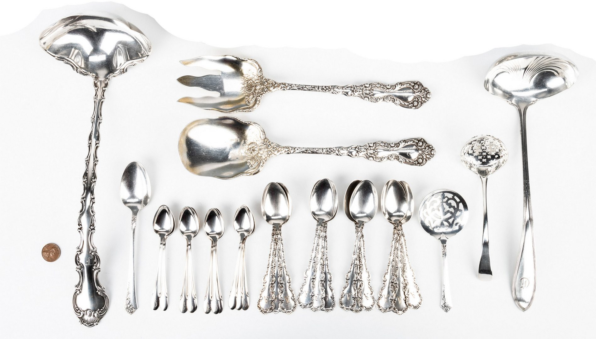 Lot 850: 30 Pcs. Assorted Sterling Silver Flatware