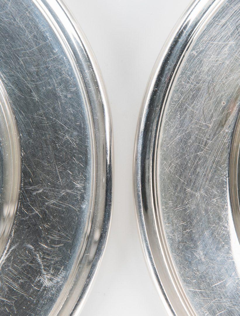 Lot 851: Sterling Vegetable Bowl + 7 bread plates