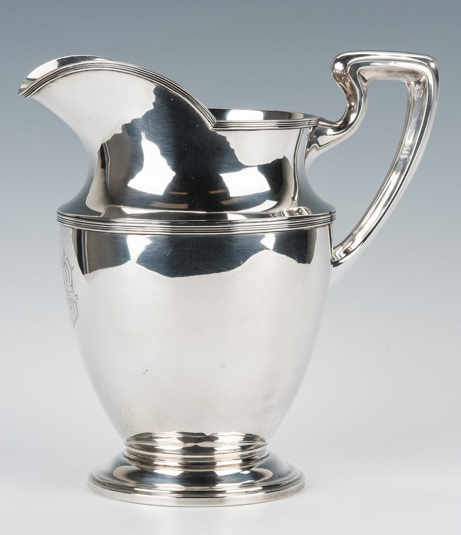 Lot 856: Unger Brothers Sterling Water Pitcher