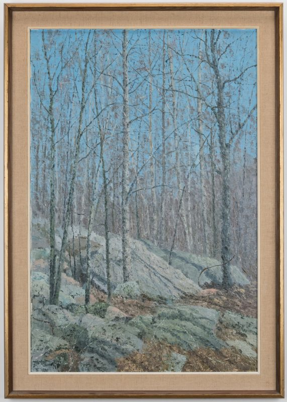 Lot 86: J. Vance Miller Oil on Canvas Winter Landscape