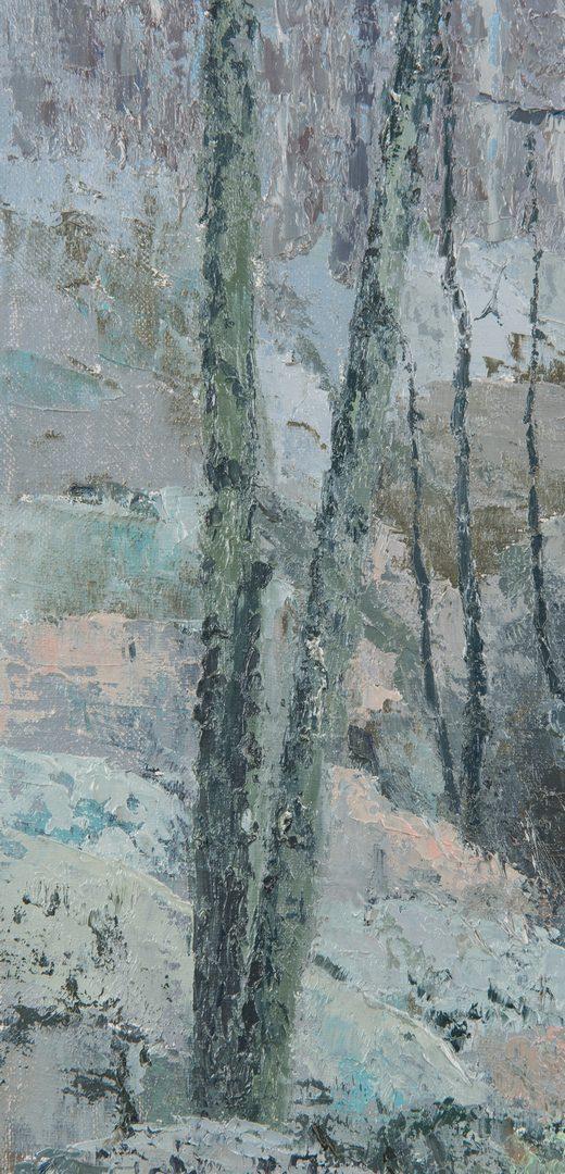 Lot 86: J. Vance Miller Oil on Canvas Winter Landscape