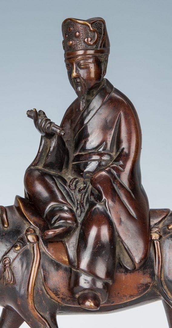 Lot 8: Chinese Bronze Censer, Horse & Scholar