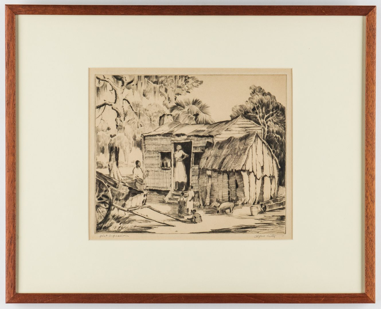 Lot 91: Alfred Hutty Drypoint, Southern Villa