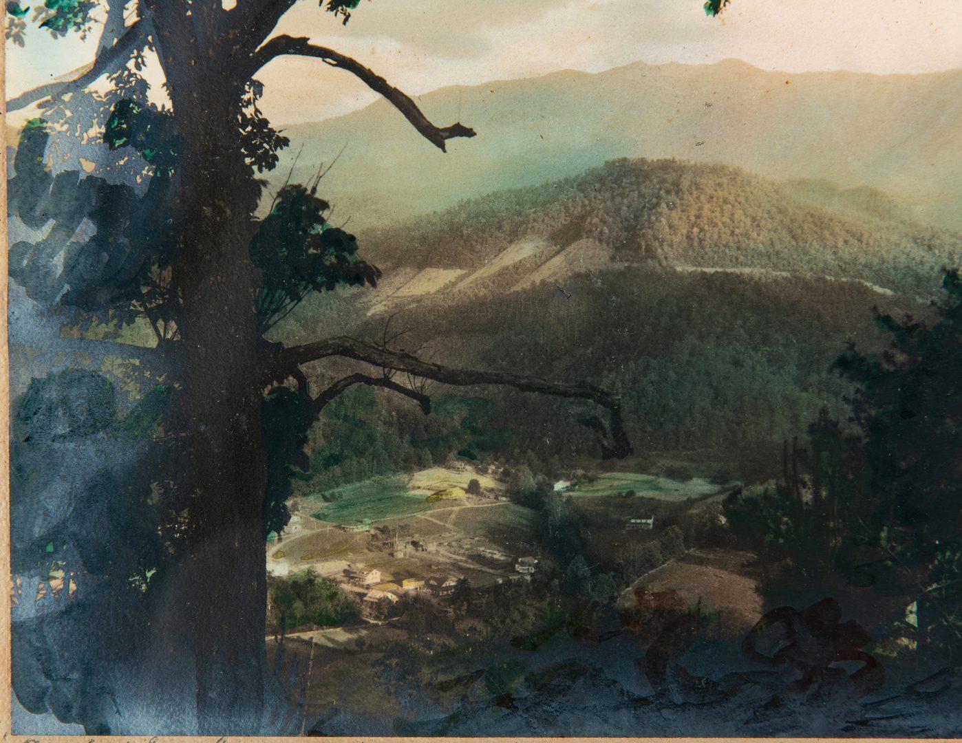 Lot 93: Jim Gray TN Watercolor & Knaffel/Thompson Mt. LeConte Photo, 2 items