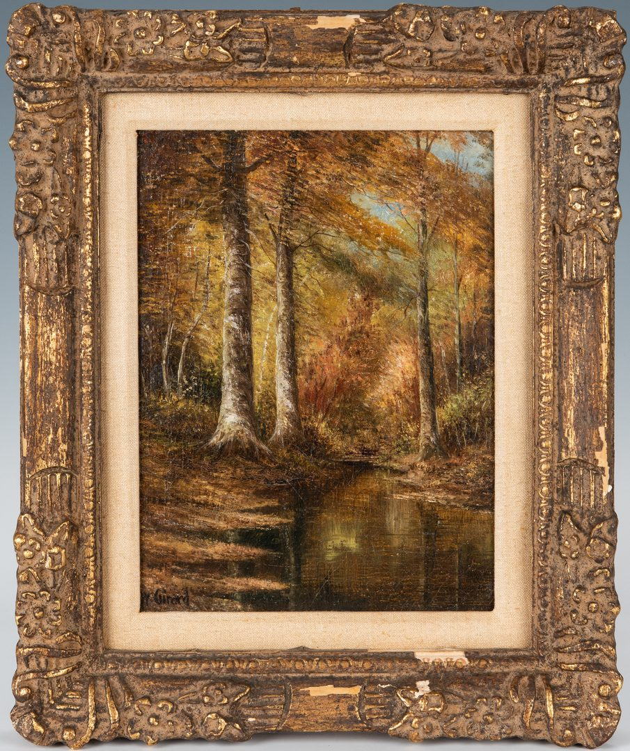 Lot 95: Washington Girard O/B, Autumn Landscape w/ Beech Trees