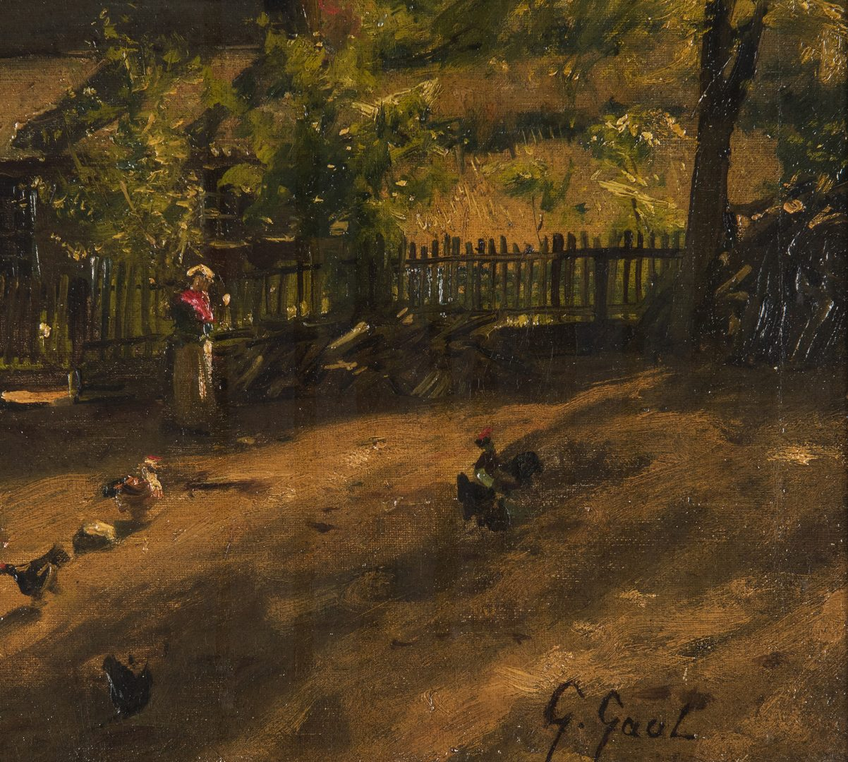 Lot 96: Gilbert Gaul O/C, TN Farmyard, Exhibited