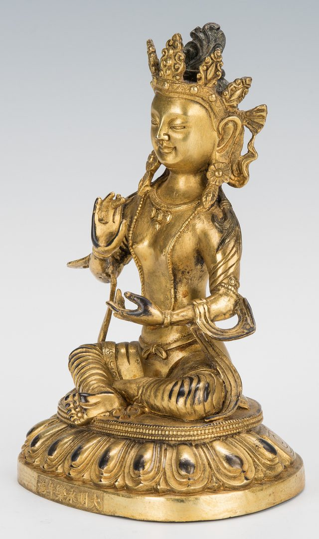 Lot 9: Chinese Gilt Bronze Buddha Amitabha Figure