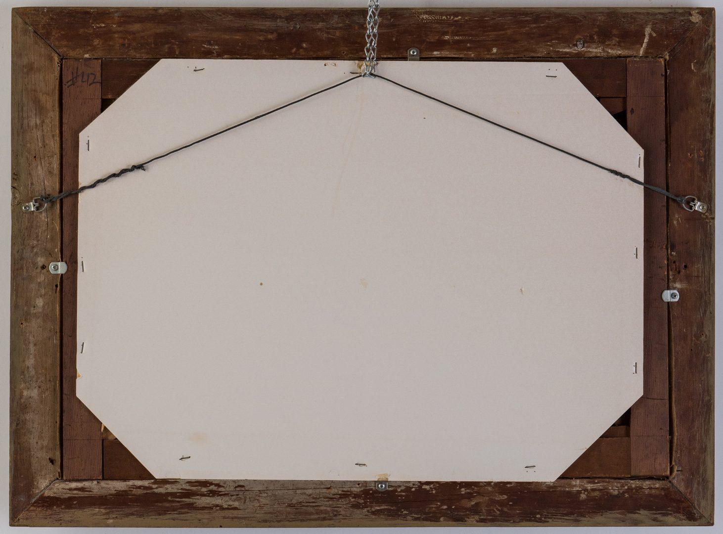 Lot 102: American or British School O/C Fly Fishing Scene, Signed
