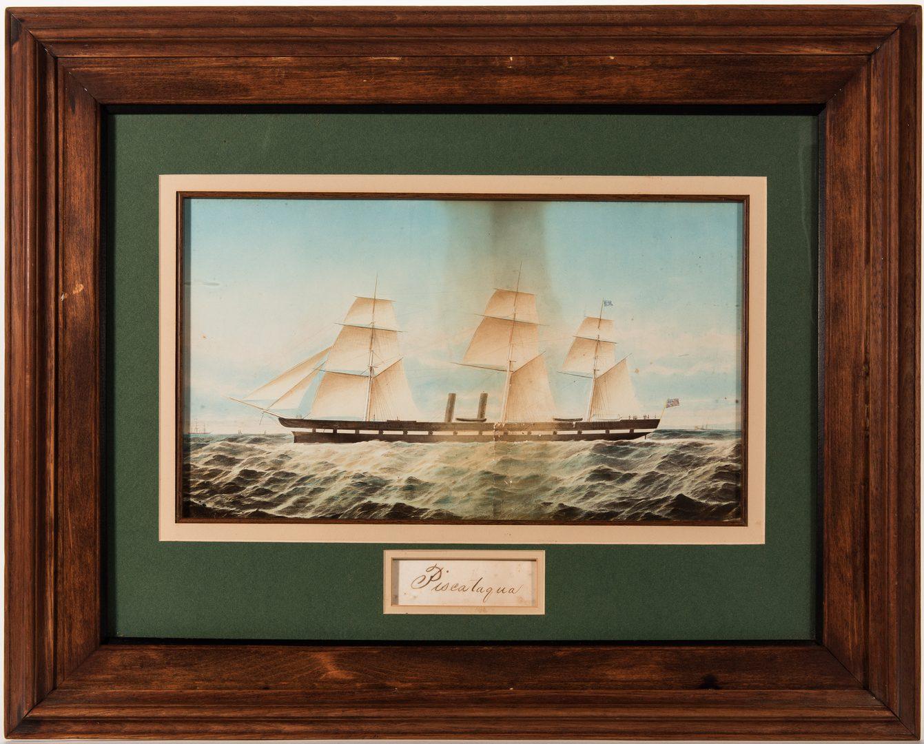 Lot 105: Folk Art Fort Hamilton NY Diorama & Piscataqua Chromolithograph