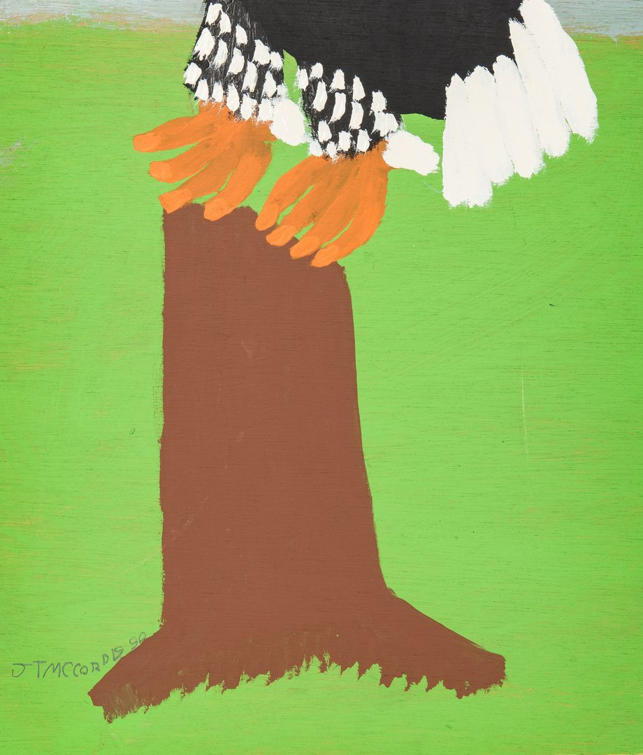 Lot 109: J. T. McCord Folk Art Eagle Painting