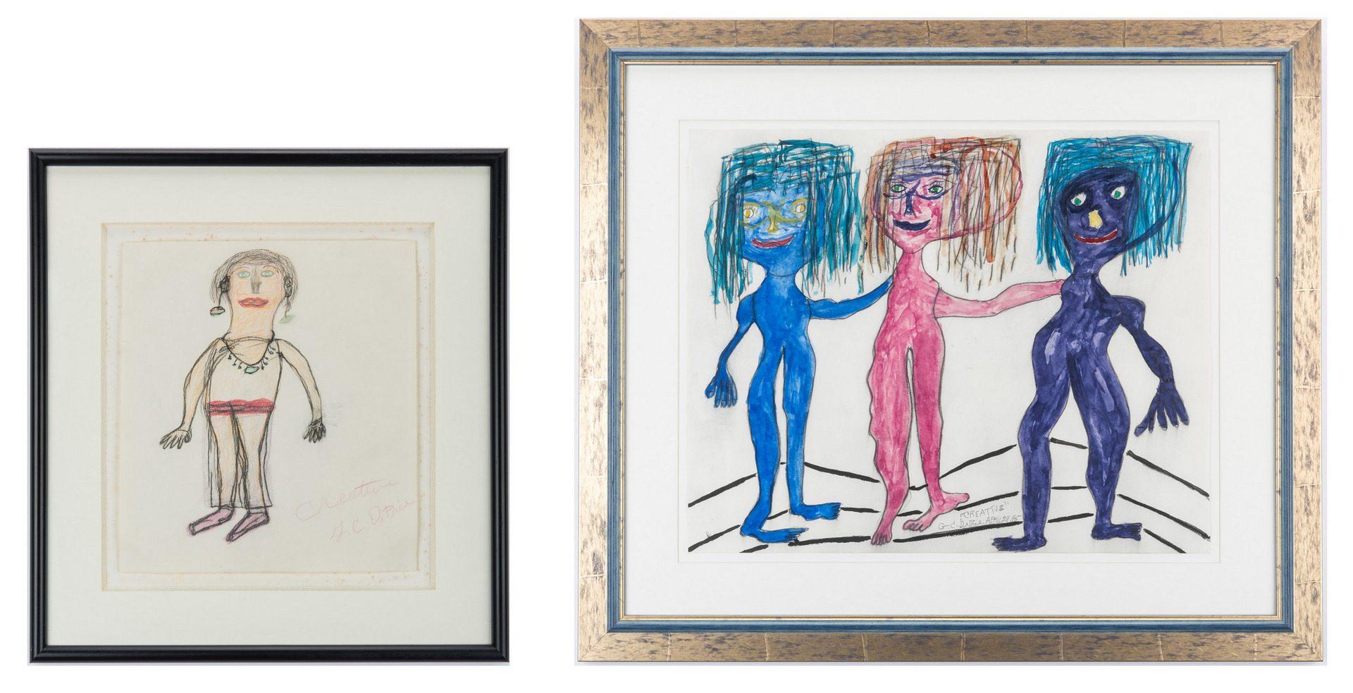 Lot 110: 4 Folk Art Works, incl. Charles Dieter & Gerald DePrie