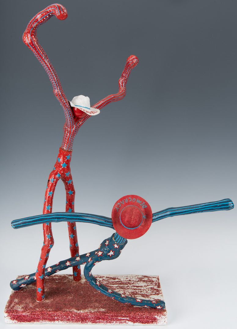 Lot 113: Gary Hargis Folk Art Political Sculpture