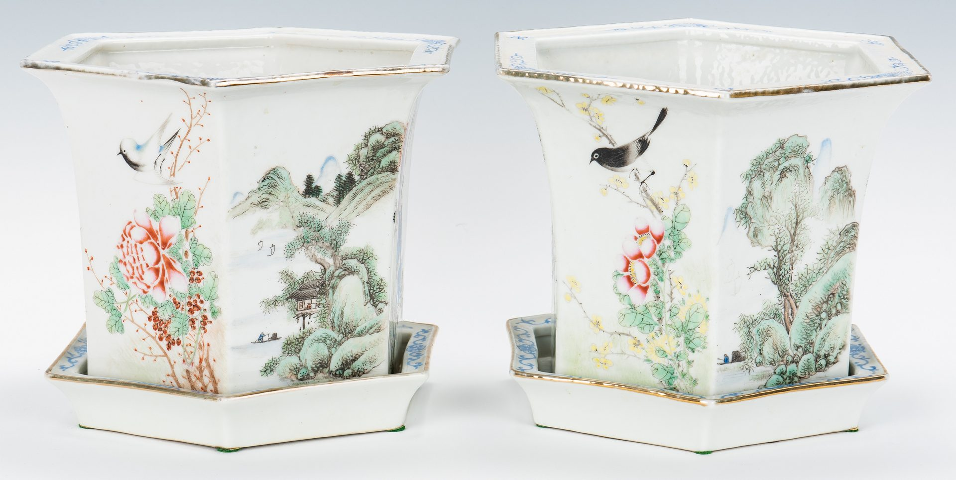 Lot 11: Pair of Chinese Republic Jardinieres