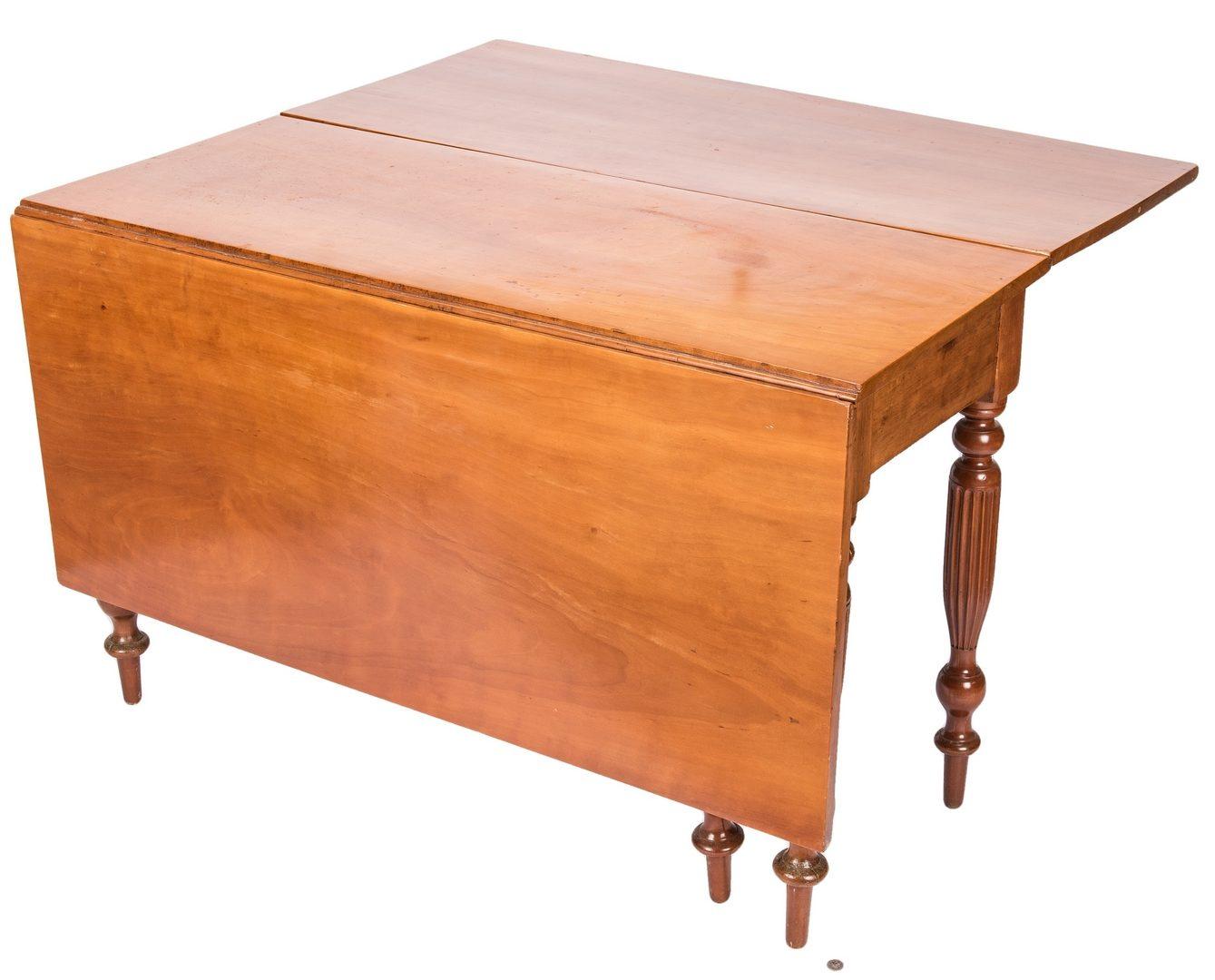 Lot 123: Kentucky Sheraton Cherry Drop Leaf Table