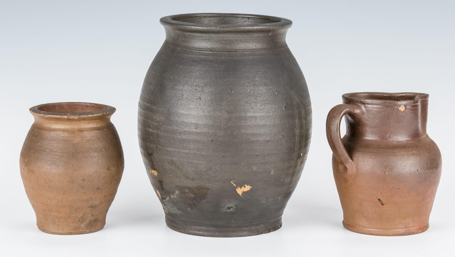 Lot 126: 3 Southwest VA Stoneware Pottery Pieces