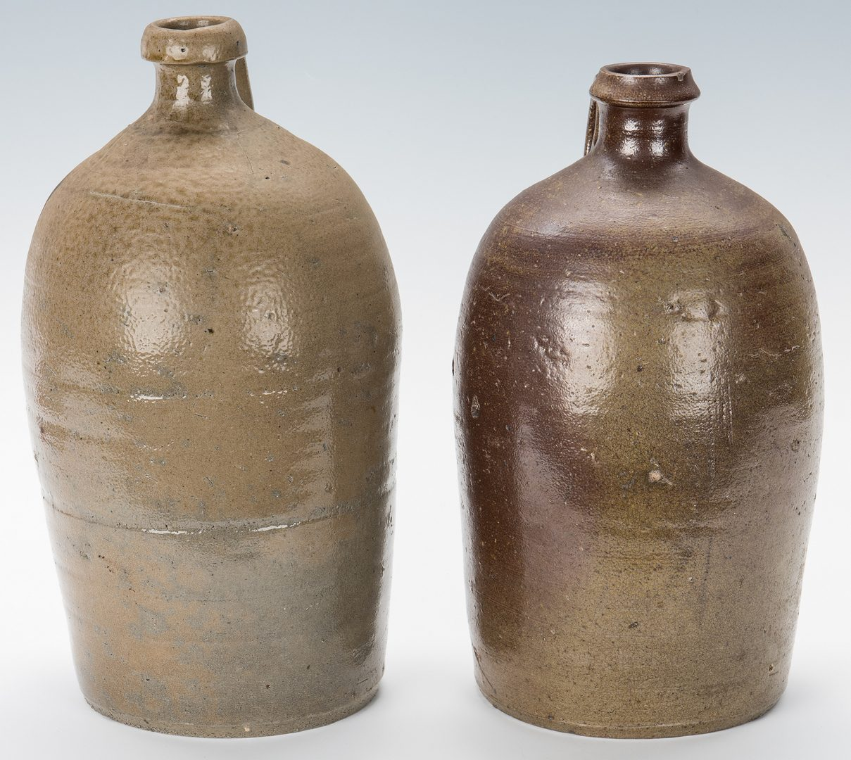 Lot 128: 4 NC Randolph County Stoneware Pottery Jugs
