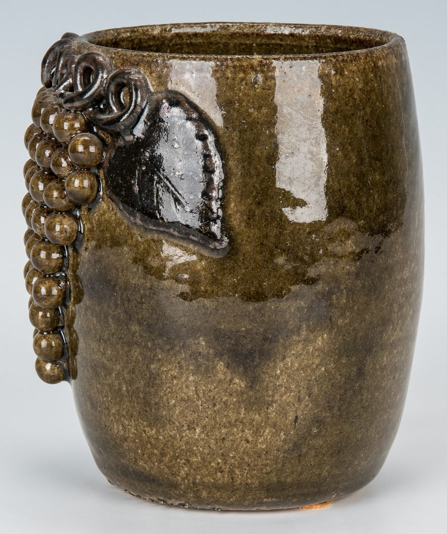 Lot 130: Lanier Meaders Pottery Mug w/ Grapes