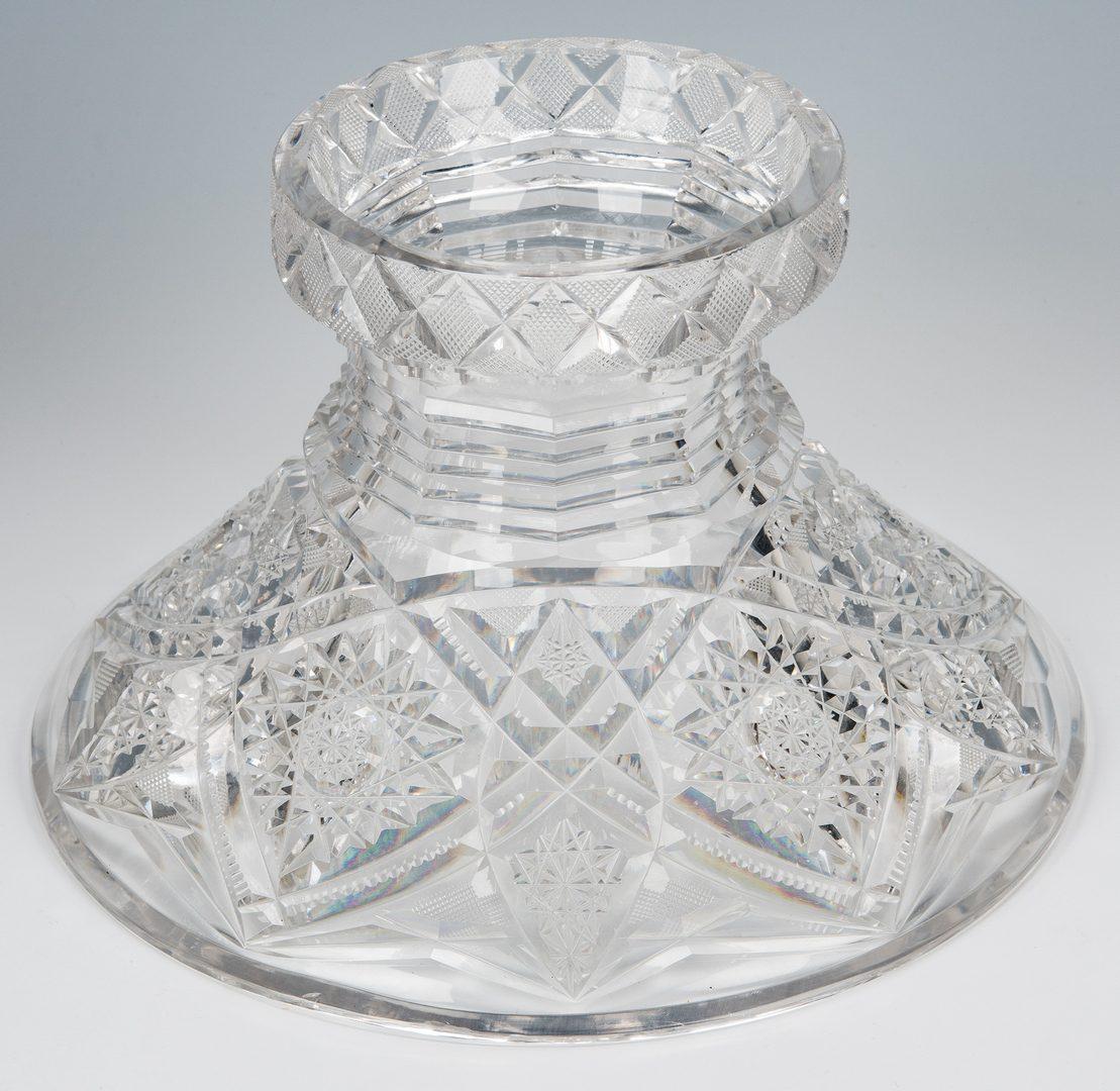 Lot 132: Brilliant Cut Glass Pedestal Punch Bowl