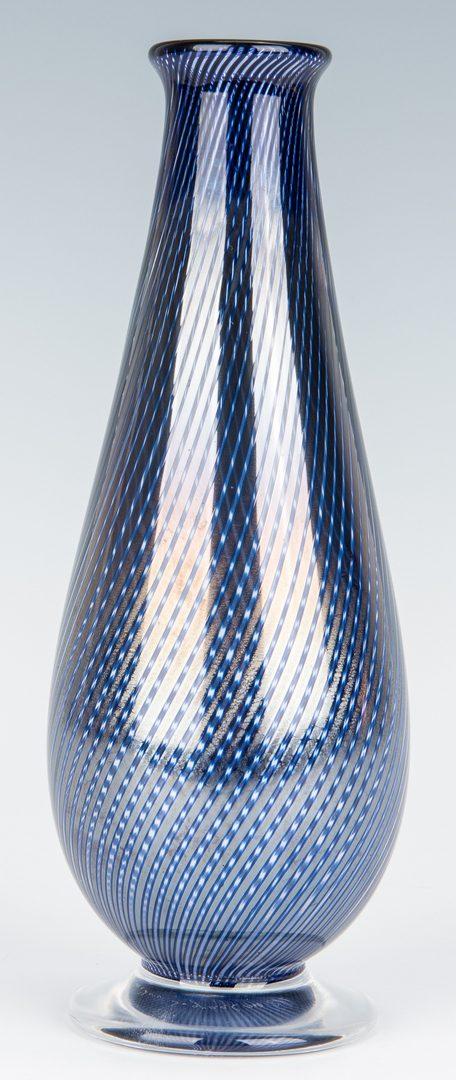Lot 134: Orrefors Graal Vase plus Botou Reverse Glass fan shaped bottle