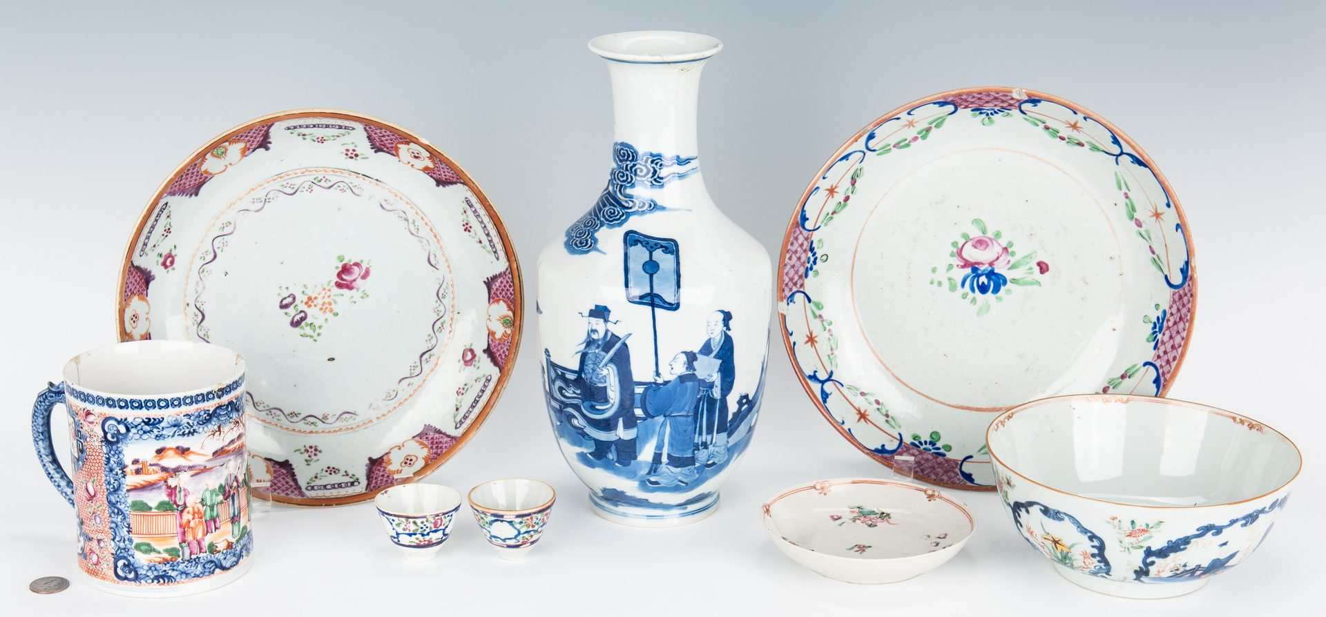 Lot 13: 8 Chinese Porcelain Items, including Export