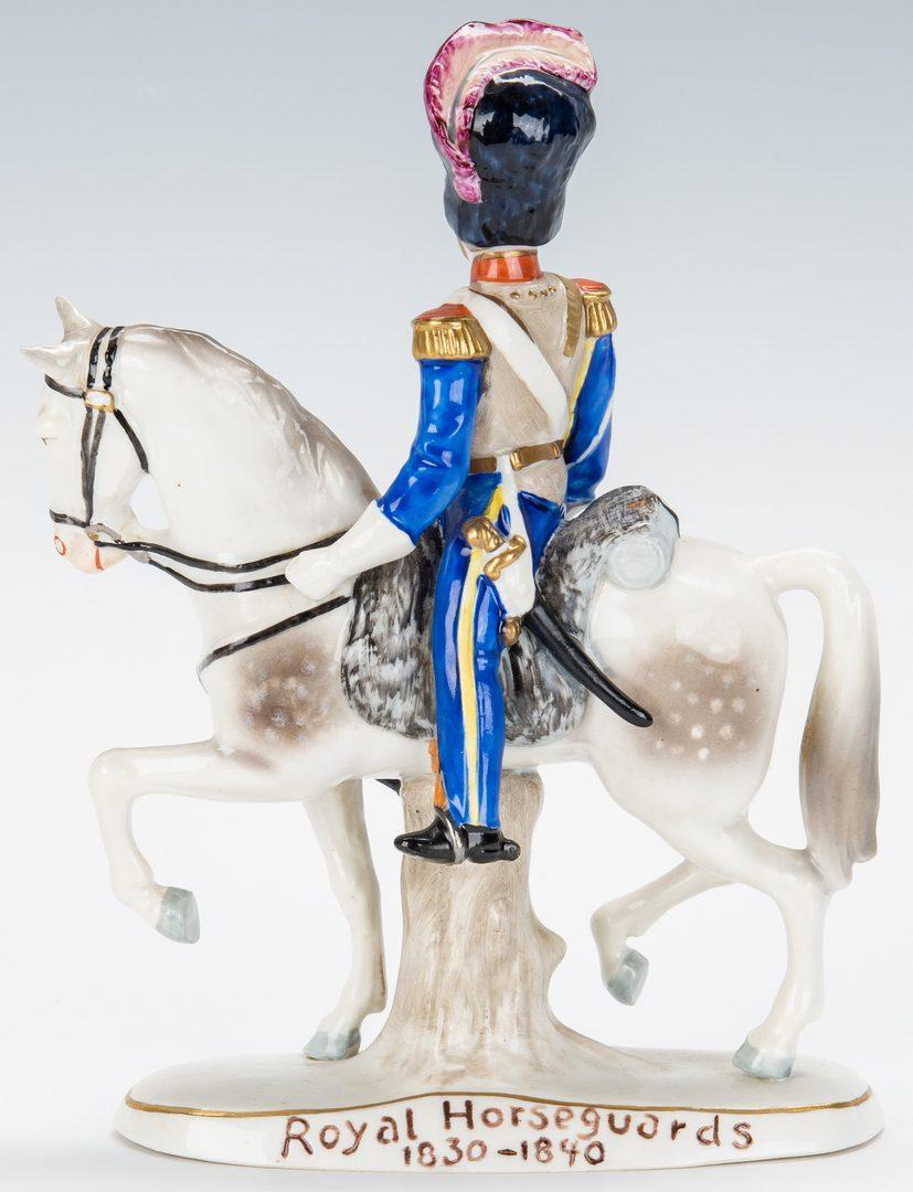 Lot 140: 2 Equestrian Figures, incl. Cartier & Sitzendorf