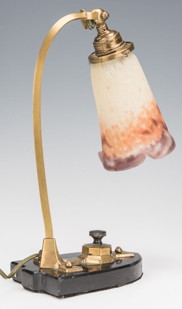 Lot 141: Art Deco Muller Freres Desk Lamp