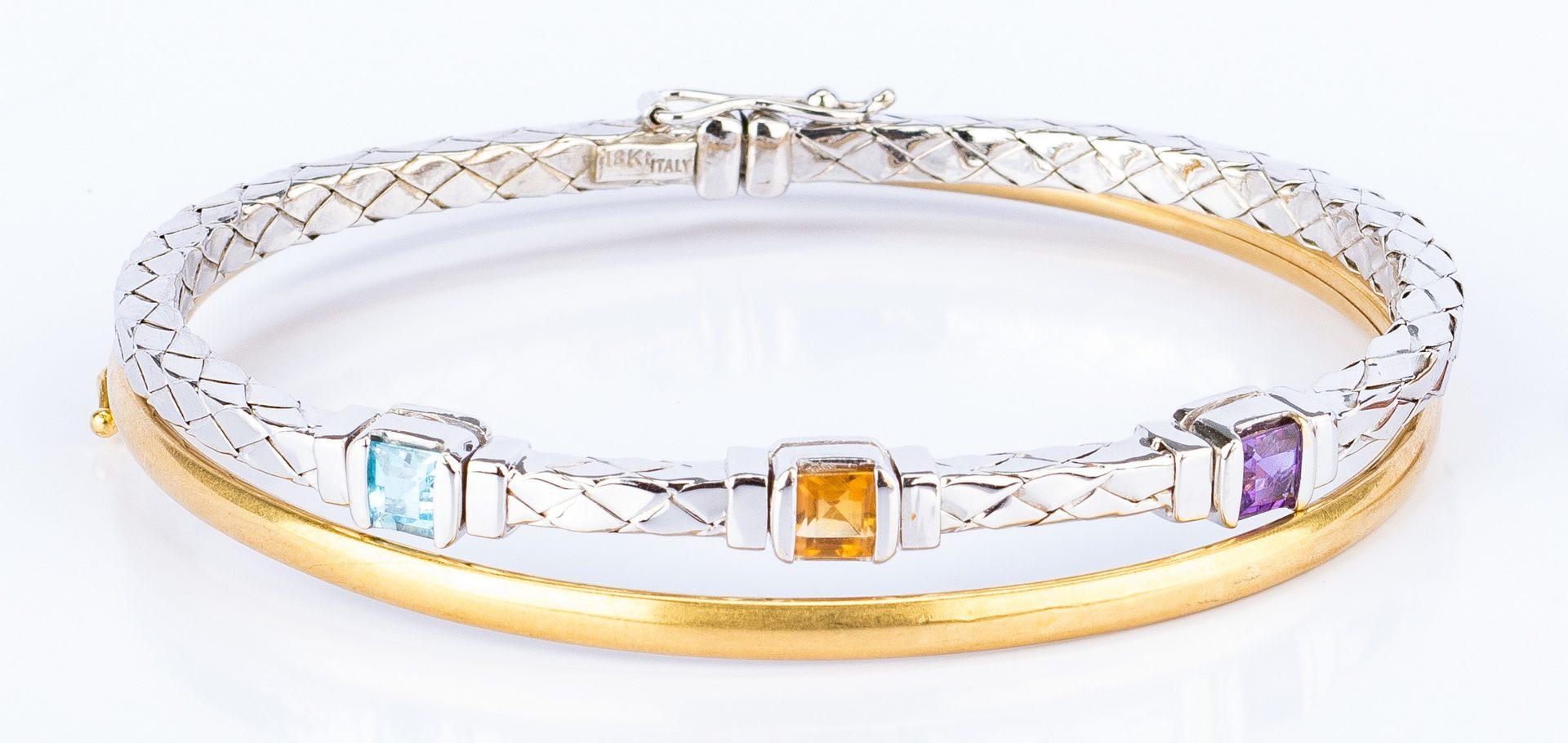 Lot 142: 2 Italian 18K Bracelets