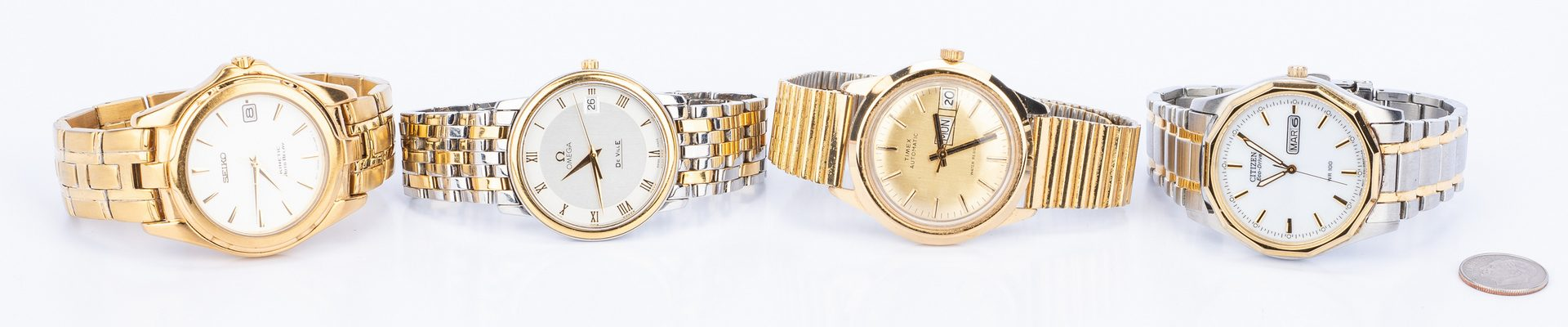 Lot 147: Group of 4 Gents Watches incl. Omega